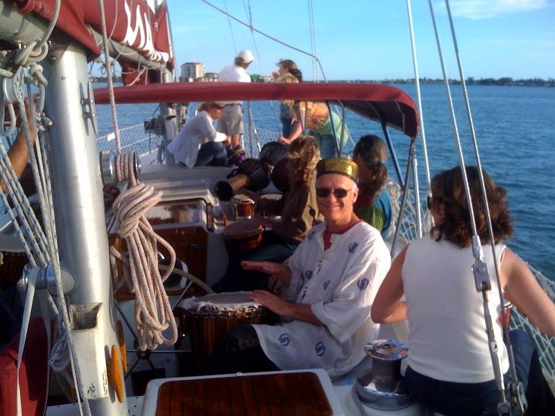 buddyhelmdrumming sailboat