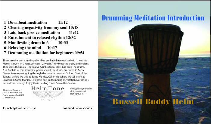 Drumming Meditation Introduction CD by Russell Buddy Helm