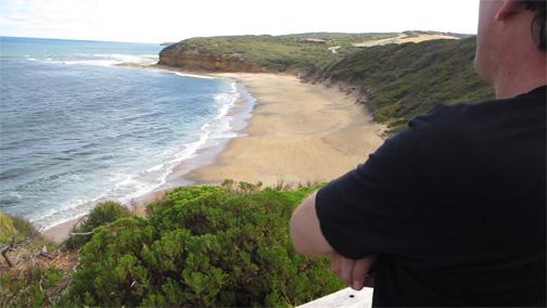 Worlda famous surfing champion Bells Beach in Victoria, Australia